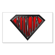 Super Ninja(Black) Rectangle Decal