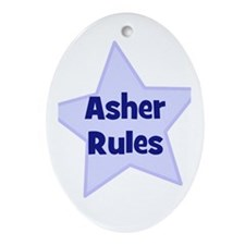 Asher Rules Oval Ornament