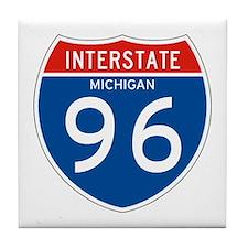 Interstate 96 - MI Tile Coaster