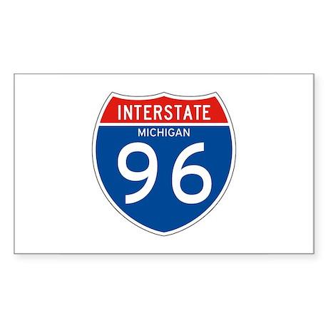 Interstate 96 - MI Rectangle Sticker