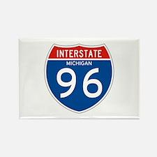 Interstate 96 - MI Rectangle Magnet