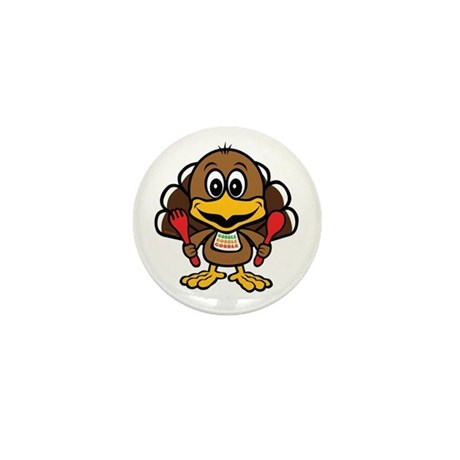 Funny Little Turkey Mini Button (100 pack)