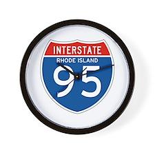 Interstate 95 - RI Wall Clock