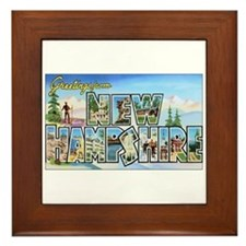 New Hampshire Greetings Framed Tile