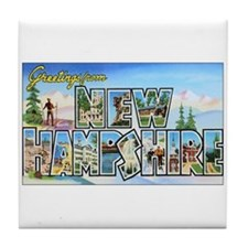 New Hampshire Greetings Tile Coaster