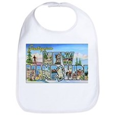 New Hampshire Greetings Bib
