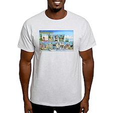 New Hampshire Greetings Ash Grey T-Shirt