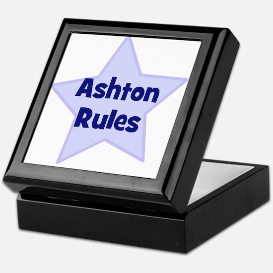 Ashton Rules Keepsake Box