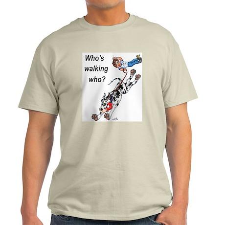 Who's walking who Ash Grey T-Shirt