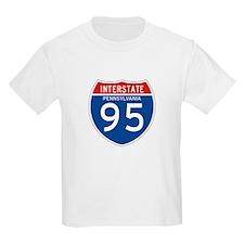 Interstate 95 - PA Kids T-Shirt