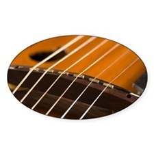Close-up of strings of a guitar Decal