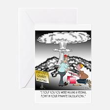 Explosion Cartoon 7971 Greeting Card