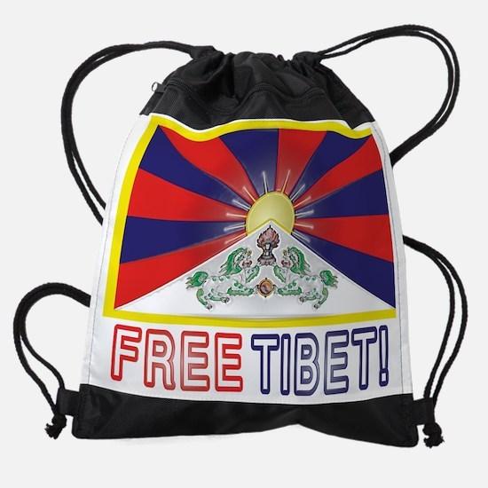 Free Tibet! Drawstring Bag