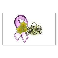 Breast Cancer Awareness - HOPE Sticker (Rectangula
