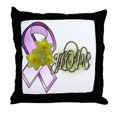 Breast Cancer Awareness - HOPE Throw Pillow