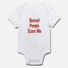 Normal People Scare Me Infant Bodysuit