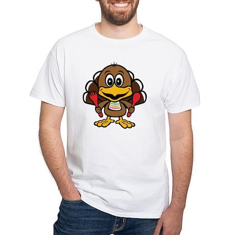 Funny Little Turkey White T-Shirt