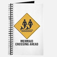 Mermaid Crossing Sign Journal