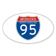 Interstate 95 - NC Oval Decal