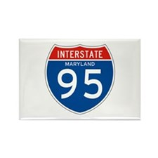 Interstate 95 - MD Rectangle Magnet