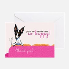 Thank You Happy Rat Terrier Greeting Card