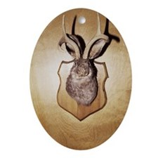 Stuffed and mounted animal head Ornament (Oval)