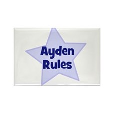 Ayden Rules Rectangle Magnet