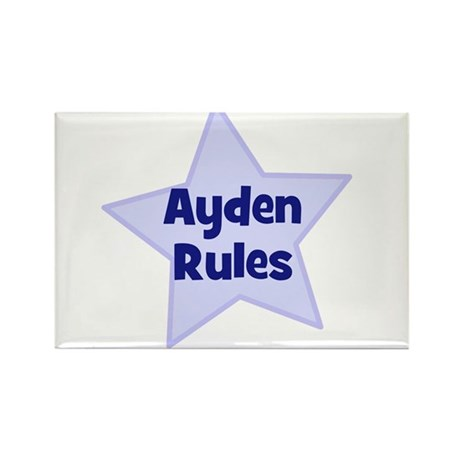 Ayden Rules Rectangle Magnet (10 pack)