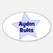 Ayden Rules Oval Decal