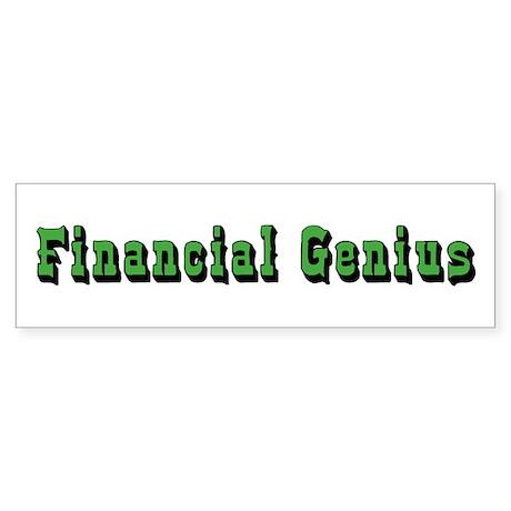 Financial Genius Bumper Sticker