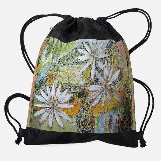 Turtle and Bloodroot Drawstring Bag