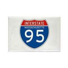 Interstate 95 - MA Rectangle Magnet