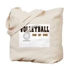 Volleyball: Pass Set Spike Tote Bag