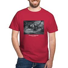 Howard Pyle Pirates Plunder Dark Red T-Shirt