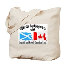Scottish-French Canadian Tote Bag