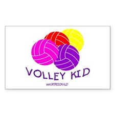 Volley Kid Rectangle Decal