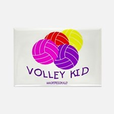 Volley Kid Rectangle Magnet