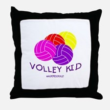 Volley Kid Throw Pillow