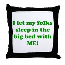 Cute Co sleeping Throw Pillow