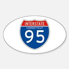 Interstate 95 - CT Oval Decal