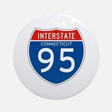 Interstate 95 - CT Ornament (Round)