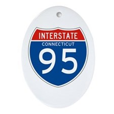 Interstate 95 - CT Oval Ornament