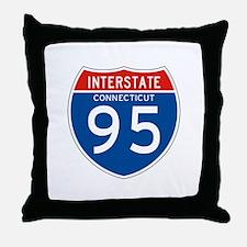 Interstate 95 - CT Throw Pillow