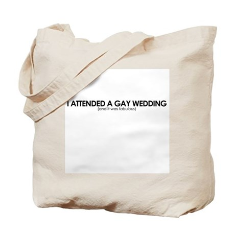 Gay Wedding Attendant Tote Bag