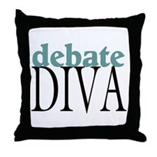 Debate Diva Throw Pillow