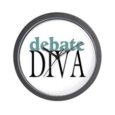 Debate Diva Wall Clock