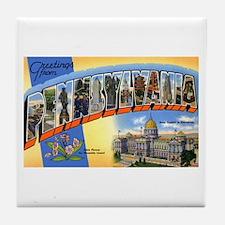 Pennsylvania Greetings Tile Coaster