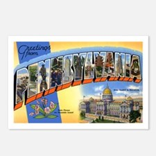 Pennsylvania Greetings Postcards (Package of 8)