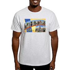 Pennsylvania Greetings (Front) Ash Grey T-Shirt