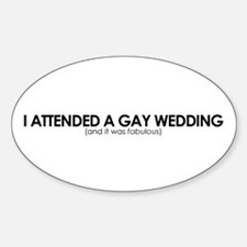 Gay Wedding Attendant Oval Decal